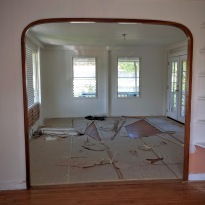 The Arch was Removed to Open up the Living Area