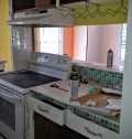 The kitchen from the hallway--before