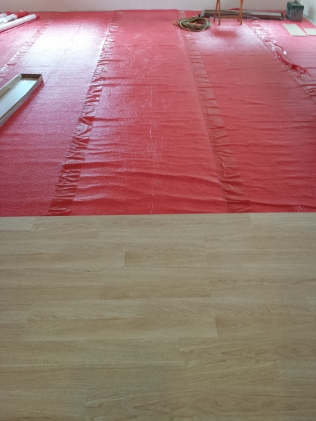 New laminate flooring going down