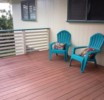 The deck staged