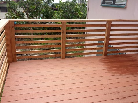 After: New Composite Decking and Railing